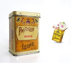 Vintage Italian Candy Tin Box  Retro Mint Drops by madlyvintage