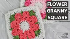 How to Crochet: FLOWER Granny SQUARE - YouTube