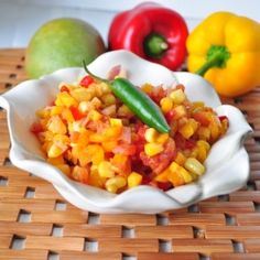 Pineapple Mango Salsa by mywholefoodlife