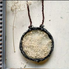 Heron and Lamb - Baby's Breath necklace