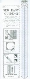Sew Easy Guide 2 - up to 7.5 inch squares.   Perfect 1/4 inch seams.
