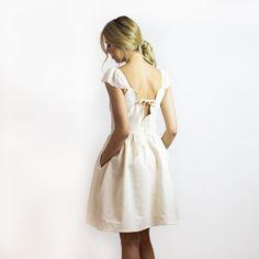 Boho linen & cotton cream dress from Simone's Rose on #EtsyWholesale