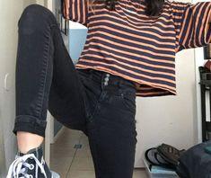 korean street fashion 3057 - New Site Indie Outfits, Cute Casual Outfits, Retro Outfits, Korean Outfits, Grunge Outfits, Korean Clothes, Classic Outfits, Look Fashion, 90s Fashion