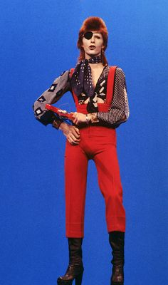 David Bowie from Rebel Rebel video 70s.
