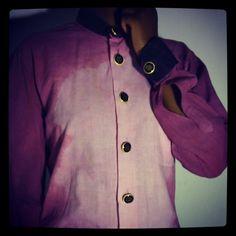 KAJAMA  maroon and black button down shirt... AWESOME!!!!