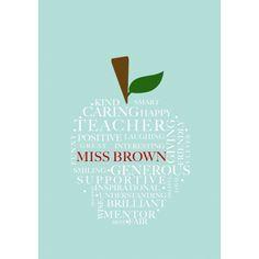 Teacher personalised print