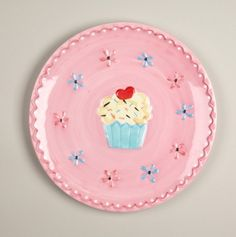 Cupcake Large Plate
