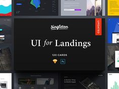 Singleton UI Pack by Craftwork on Creative and professional Ui App Design Kit Template Inspiration. To inspire your next creative application designs for Photoshop, Sketch and Adobe Experience with flat modern, clean, creative design layout standards. Ui Kit, Montserrat Font, Build An App, Free Cards, Application Design, App Ui Design, Web Design Inspiration, User Interface, Website Template