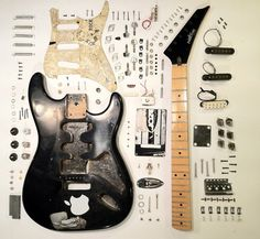 Things Organized Neatly: a guitar Guitar Parts, Music Guitar, Cool Guitar, Guitar Solo, Woodstock, Things Organized Neatly, Cigar Box Guitar, Guitar Building, Guitar Design