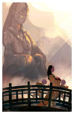 abbydraws:  Yang chen My submission piece which was accepted for Gallery Nucleus' Avatar/Korra Show! (March 7-22 2015) this was inspired by the Tian Tan Buddha in Hong Kong.Happy 10th Anniversary to Avatar:the Last Airbender!
