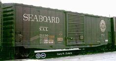SAL, Seaboard Air Line 50' Single Door Boxcar, 21130 October, 1976, Toronto, Ontario