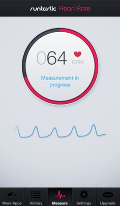 runtastic Heart Rate for iPhone 4, iPhone 4S, iPhone 5, and iPod touch (5th generation) on the iTunes App Store