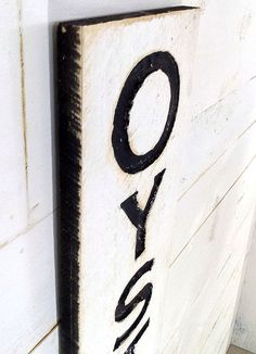 Oysters Sign  Carved in a Cypress Board Rustic by AmericanaSigns