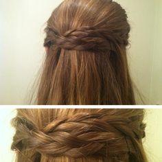 crossed braids