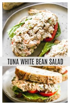 Tuna White Bean Salad - Cooking for Keeps Fun Easy Recipes, Lunch Recipes, Seafood Recipes, Salad Recipes, Dinner Recipes, Healthy Recipes, Picnic Recipes, Picnic Ideas, Picnic Foods