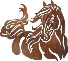 """(LZKDWIN28WHP) 28"""" """"Windy"""" Western Horse Laser Metal Art"""
