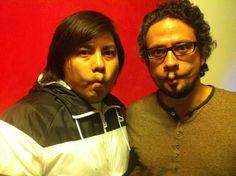 Carapez con Oscar, mejor conocido como Machupichu por la serie Aida!