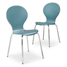 Porter Modern Stacking Chair - Set of 2 : Target (dining chairs, white)