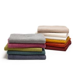 Twill Organic Bath Towel, $40, New ORCHID color just in time for spring! Soft and absorbent, these towels are designed to dry quickly on a towel hook and in the dryer.