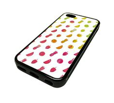 For Apple Iphone 5 or 5s Cute Phone Cases for Girls Colorful Ombre Fruit Pattern Design Cover Skin Black Rubber Silicone Teen Gift Vintage Hipster Fashion Design Art Print Cell Phone Accessories MonoThings http://www.amazon.com/dp/B00KYFXILE/ref=cm_sw_r_pi_dp_Kk6Ntb0S94E5XN6N