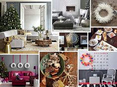 Modern Christmas Decorations #Christmas #decorations