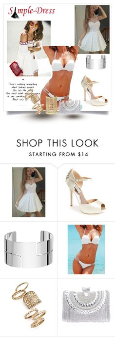 """""""simple-dress 15/II"""" by lightcoti ❤ liked on Polyvore featuring Badgley Mischka, Dinh Van, Topshop, Forever 21, modern and simpledress"""