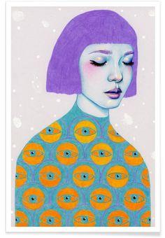 The Observer en Affiche premium par Natalie Foss | JUNIQE