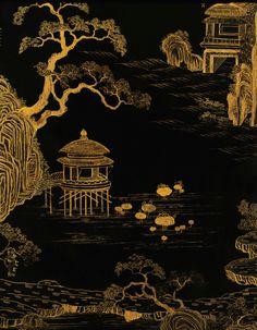 screen     sotheby's hk0675lot7286tfr Chinoiserie Wallpaper, Japanese Art, Painting, Winter Painting, Art, Environmental Art, Prints, Beautiful Art, Coffee Artwork