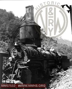 N&W Class Y3a 2067 Right Side 3/4 View at Iaeger,WV Aug. 27,1957