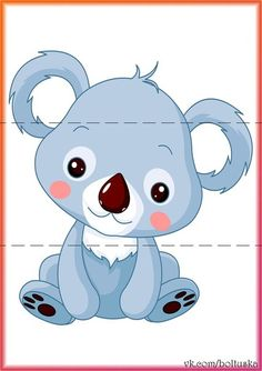 Illustration of Fun zoo. Illustration of cute Koala Bear vector art, clipart and stock vectors. Baby Koala, Cute Koala Bear, Baby Zoo, Baby Animals, Cute Animals, Bear Vector, Bear Clipart, Cute Animal Illustration, Animal Illustrations