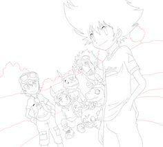 Digimon lineart by RayJason on DeviantArt