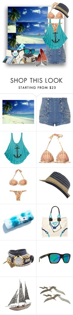 """Day At The Beach..."" by kimberlyd-2 ❤ liked on Polyvore featuring Pierre Balmain, Billabong, Aventura, Longchamp, La Mer, VonZipper, Pier 1 Imports, Nautical, beachwear and Beachbag"