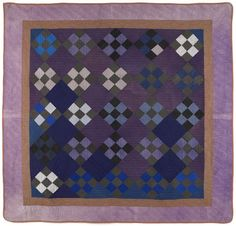 Amish nine patch quilt, early 20th c., 69'' x 71''
