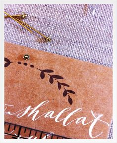 laurel + lettering