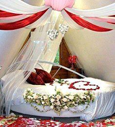 Romantic Master Bedroom, Master Bedroom Design, Beautiful Bedrooms, Romantic Bedrooms, Wedding Bedroom, Wedding Suite, Bedroom Design Inspiration, Design Ideas, Bedroom Night