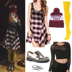Hayley Williams: Dip-Dyed Plaid Dress