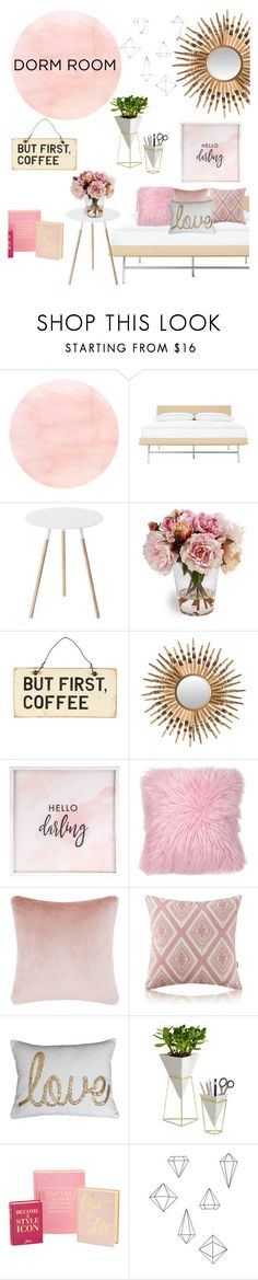 """""""Dorm Room Decor"""" by jdirectioner44 ❤ liked on Polyvore featuring interior, interiors, interior design, home, home decor, interior decorating, Vitra, Yamazaki, Safavieh and Hello Darling"""