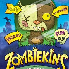HALLOWEEN Reading Ideas- ZOMBIEKINS #illustration #kidlitart #childrensbook #characters #illustrator #design #cartoon #characterdesign #halloween #zombies #monsters #trickortreat #funny