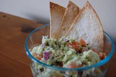 Simple Guacamole and Baked Lime Tortilla Chips for 2!