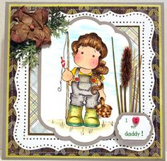 Magnolia Tilda Father's Day Card by Chris Christensen by Cedargirl, $9.00