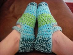 Ravelry: Operation Christmas Box Slippers pattern by Tiffany Roan