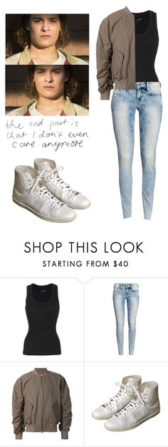 """Nick Clark - ftwd / fear the walking dead"" by shadyannon ❤ liked on Polyvore featuring rag & bone, H&M and Yves Saint Laurent"