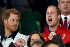 September 26 The princes support opposing teams in the match, which England lost 25-28. Prince Harry is the honorary president of England Rugby, while his brother, William, is vice patron of the Welsh Rugby Union.