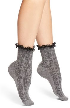 Nordstrom 'Short & Sweet' Ruffle Anklets (3 for $18)   Nordstrom