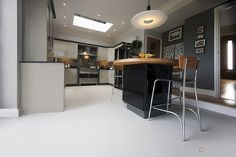 Durable kitchen flooring, soft to the touch