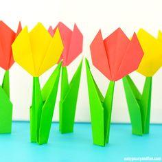 Origami tulip how to make.