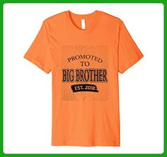 Mens PREMIUM Promoted To Big Brother shirt 2018 3XL Orange - Relatives and family shirts (*Amazon Partner-Link)