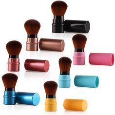 New Design 1Pcs MIni Soft Makeup Brush Retractable Pro Foundation Cosmetic Blusher Face Powder Brushes Beauty Tools