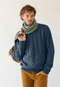 Дизайн: Bergere de France.  Пуловер с рельефным узором, универсальная вещь на каждый день. Строго и со вкусом.  Размеры…