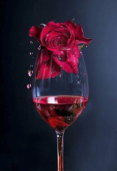 Rose in Rotwein von Linn Andrea Valde auf Wine Wallpaper, Flower Phone Wallpaper, Beautiful Rose Flowers, Wine Photography, Wine Art, In Vino Veritas, Red Aesthetic, Cute Wallpapers, Red Roses